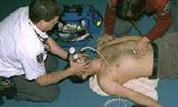 10. Auscultate frequently lungs and gastric area to verify quality of ventilation